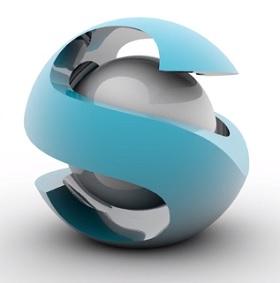 modeling logo 3D in cinema 4D