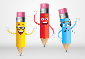 pencil character in illustrator