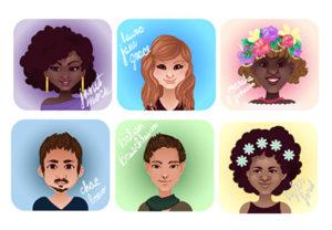 transgender cartoon icon illustrator