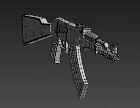 Modeling Machine Gun Ak 47 in 3ds Max