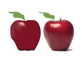 Apple with Mesh Tool in Adobe Illustrator