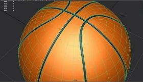 Modelling basketball in maya
