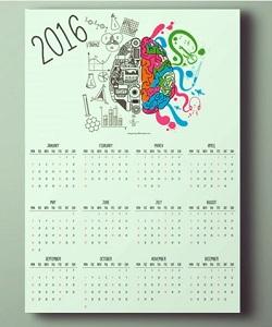 Create Calendar 2016 in Illustrator