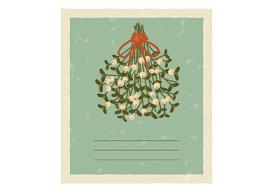 Create Vintage Card with Mistletoe in Illustrator