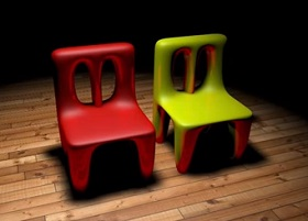 baby chairs in Cinema 4D