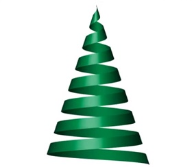 Create Christmas Tree Ribbon in Illustrator
