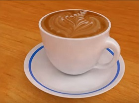 coffee modeling and rendering in 3ds Max