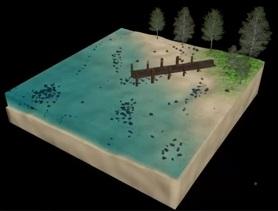Cube Island in 3ds Max e VRay