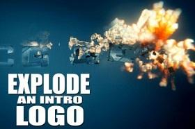 explode logo in Blender