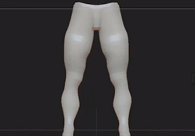 Modeling human legs 3ds max
