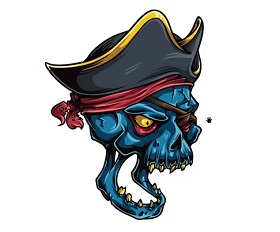 Pirate Skull in Adobe Illustrator
