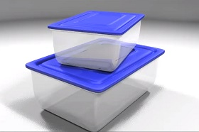 model Plastic containers in Maya