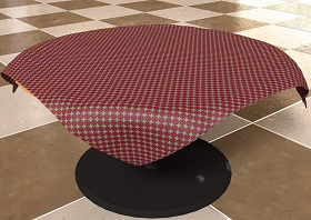 Tablecloth Using Cinema 4D