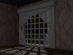 model curtains in maya