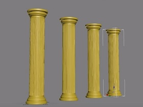 Modeling Architectural Column in 3ds Max