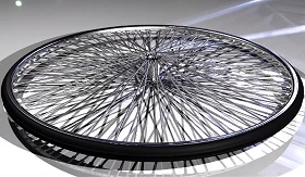 Bike wheel in Autodesk Maya