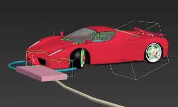 Advanced Car Rig Ferrari Enzo in 3ds Max