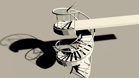 spiral staircase without a central column in maya