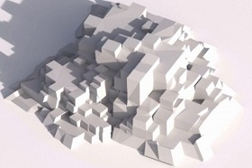 Create Cubic Style Mountains/Rocks in Blender