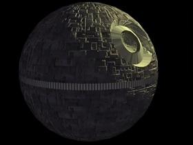 Death Strar of Star Wars in 3ds Max
