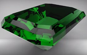 Modeling an Emerald in Autodesk Maya