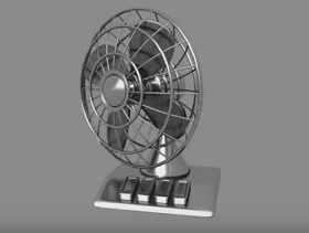 Table Fan Modelling and Animation in Maya