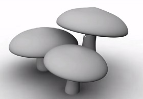 Modeling a Simple Mushrooms in Autodesk Maya