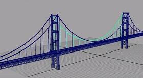 Modeling Golden Gate Bridge in Autodesk Maya