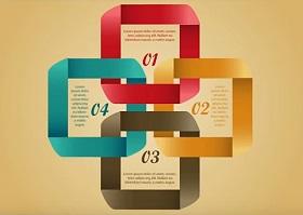 Create Infographics Ribbon Design in Illustrator