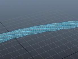 Create Twisted Rope in Autodesk Maya