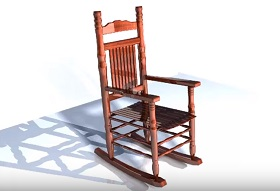 Modeling a Rocking Chair in Autodesk Maya
