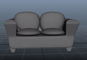 Modeling a Low Poly Sofa in Autodesk Maya