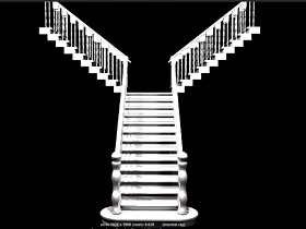 model a staircase in Maya