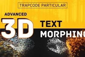3D Text Morphing with Trapcode Particular in After Effects
