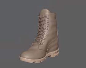 Modeling the Army Boot in Pxicologic ZBrush R7