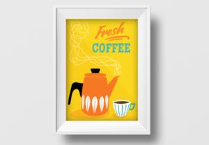 Design a Coffee Retro Poster in Adobe Illustrator