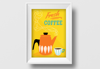 Design a Coffee Retro Poster in Adobe Illustrator