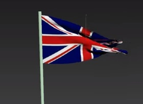 Modeling a Simple Flag in the Wind in 3ds Max