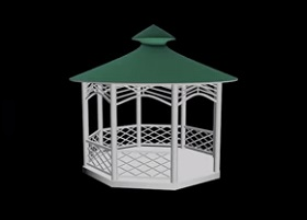 Modeling a Simple Gazebo in Autodesk 3ds Max