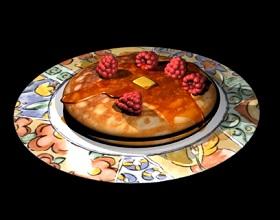 Simple Pancake & Raspberry Modeling in Maya
