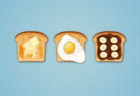 Create Delicious Toast Icons in Adobe Illustrator