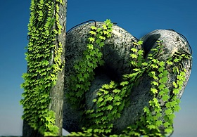 Create Realistic Vine without Plugins in 3ds Max