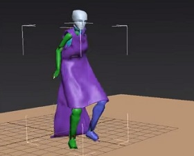Character Cloth Simulation with Cloth Modfier in 3ds Max