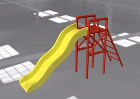Modeling and Texturing a Baby Slide in Autodesk Maya