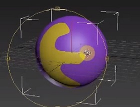 Object Around Sphere in 3ds Max