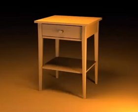 Modeling a Night Table Easy Technique with 3ds Max