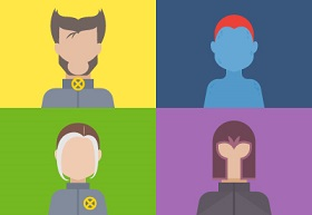 Create a Set of X-Men Avatars in Adobe Illustrator