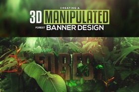 Create 3D Manipulated Banner Design in Cinema 4D