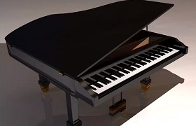 Modeling a Grand Piano 3D in Autodesk Maya