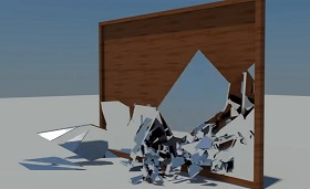 Mirror Shattering with Mass FX in Autodesk 3ds Max